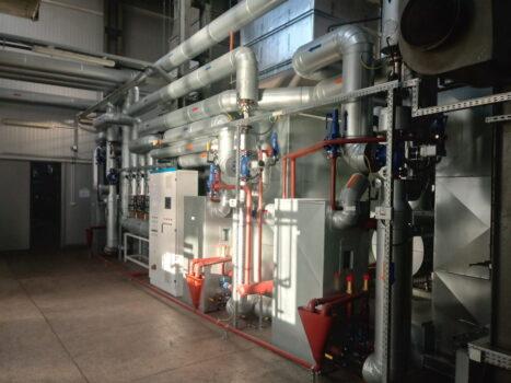 Instalacja technologiczna układu kogeneracji przy ul. Lidzbarskiej 33
