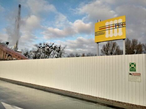 Mur oporowy po remoncie