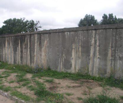 Mur oporowy przed remontem