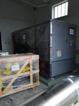 Pomieszczenie w kotłowni Malickiego przed montażem układu kogeneracji